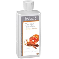 Orange Cinnamon ~ The freshness of citrus fruits combined with the warmth of spices and candied fruits, enhanced by a note of amber and sensual white musk