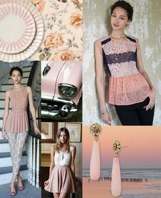 "Anthropologie - ""Blush"" color Trend board"
