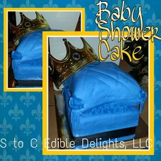 Baby shower prince Pillow cake