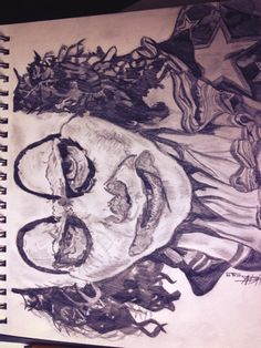Sorry it's sideways... This is my portrait of Mr Jelly from Psychoville played by the fantastic Mr Reece Shearsmith.  This is an example of my earlier work when I just used pencil and paper :) Made with B, HB and 5B pencil on A4 sketchbook paper :)   Made in 2013 :) x