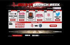 Rockets 'Launch Week' Splash Page