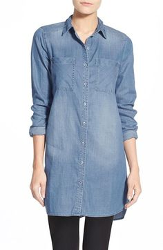Caslon® Two-Pocket Tunic Shirt (Regular & Petite) available at #Nordstrom