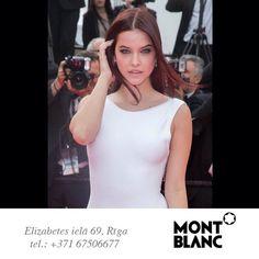 Barbara Palvin izvēle - Montblanc White Nights auskari. Kannas, Francija.  Выбор Barbara Palvin – серьги Montblanc White Nights. Канны, Франция.