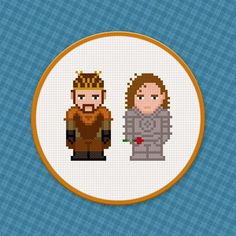 Cross Stitch - Renly & Loras