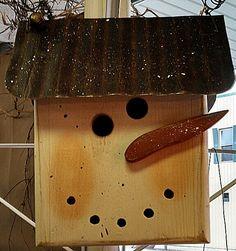 Our adorable locally made snowman birdhouse now in stock