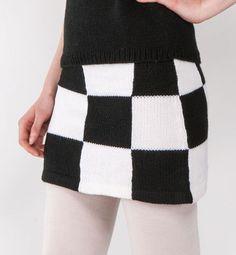 patron jupe laine tricot Rock, Plaid Scarf, Knit Crochet, Crochet Patterns, Winter Hats, Knitting, Sweaters, Vintage, Fashion