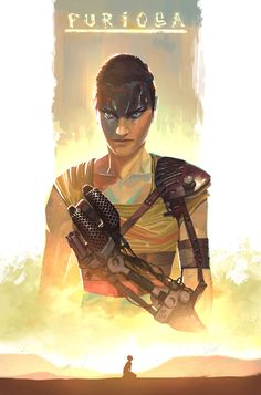 BROTHERTEDD.COM - nesskain: Mad Max - Fury Road (edit: made few... Imperator Furiosa, Mad Max Fury Road, Fantasy Movies, People Art, Art Sketches, Cool Art, Batman, Fan Art, Drawings