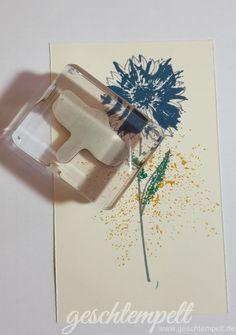 Stampin up, Verwendung von Stampin Glitter, Anleitung in Bildern, Tutorial…