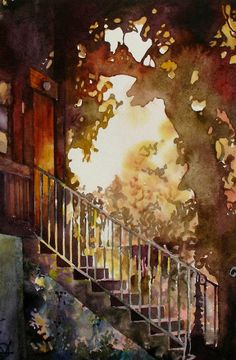 light makes me think of a lazy summer afternoon Oleg KOZAK watercolor: WATERCOLOR 5