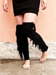 DIY HOW TO MAKE FASHIONABLE LEG WARMERS EASY