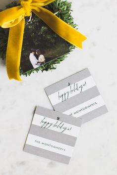 With Minted's collection of photo gift tags, leave an extra personal touch to your holiday gifting this year.