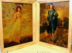 Vintage Framed Blue Boy and Pinkie Lithos 20 X 24 by ChinaGalore, $500.00