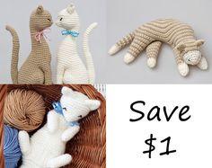 Amigurumi Cat Patterns Bundle crochet pattern by StuffTheBody, $15.00