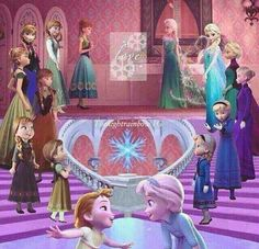 Young to Older~ Frozen Elsa & Anna Frozen Disney, Disney Pixar, Princesa Disney Frozen, Deco Disney, Frozen And Tangled, Frozen Movie, Disney Memes, Disney Animation, Disney And Dreamworks