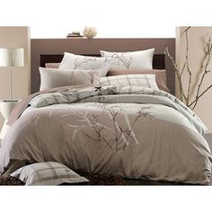 @Overstock - Create a natural oasis in your bedroom with this three-piece queen-size duvet cover set. Its muted colors and embroidered bamboo design add a peaceful and elegant air to your room, and the machine-washable set includes a cover and two pillow shams.http://www.overstock.com/Bedding-Bath/Embroidered-Bamboo-3-piece-Full-Queen-size-Duvet-Cover-Set/5249718/product.html?CID=214117 $74.99