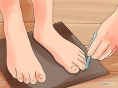 Image titled Make Moccasins Step 2 Image titled Make Moccasins Step 2 Sewing Leather, Leather Pattern, Leather Craft, Beaded Moccasins, Leather Moccasins, How To Make Moccasins, How To Make Shoes, Baby Moccasin Pattern, Moccasins Pattern