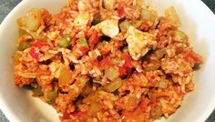 Chicken Jambalaya Weight Loss Eating Plan, Easy Weight Loss, Chicken Jambalaya, Free Meal Plans, Evening Meals, Mediterranean Style, Everyday Food, Eating Plans, Fried Rice