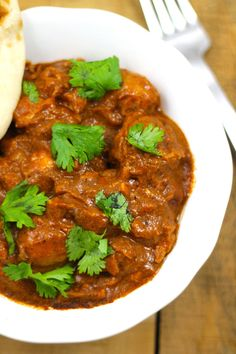Lightened Up Crockpot Potato and Chicken Tikka Masala - Just dump the ingredients in the crockpot and let it cook!