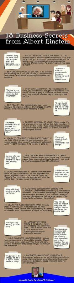 Consejos para los negocios que nos dejó Albert Einstein #Infografía #Emprendimiento