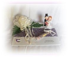 Geldgeschenke - Geldgeschenk Hochzeit m großer Rose und Brautpaar - ein Designerstück von Festtags-Shop bei DaWanda
