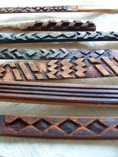 Ohe kapala bamboo stamps used for printing kapa