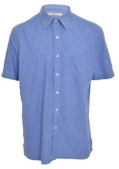 Henry Grethel Mens Causal Shirt L Button Front Spread Collar Short Sleeve NWOT