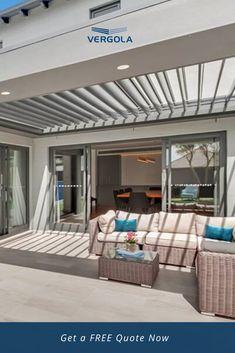 Patio Deck Designs, Patio Design, House Design, Modern Outdoor Fireplace, Outdoor Fireplace Designs, House Extension Design, Outside Room, Room Design Bedroom, Outdoor Rooms