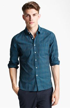 Shipley & Halmos Plaid Woven Shirt available at Nordstrom