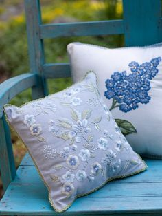 Sweet Flower and Hydrangea cushions