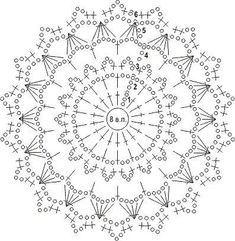 Free Crochet Doily Patterns, Crochet Blocks, Crochet Diagram, Crochet Chart, Crochet Motif, Crochet Doilies, Crochet Ball, Freeform Crochet, Crochet Round