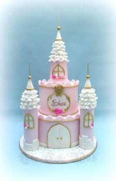 Image result for princess castle cake