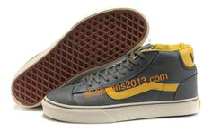 Vans Classics Suede Old Skool Grey Yellow
