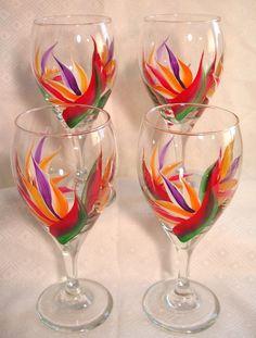 Bird of Paradise Wine Glass, $15.00 Each. Available at www.Goodsmiths.com/Glass-Garden