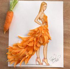 Comida de EsCultura: Ilustraciones de moda hechas con comida