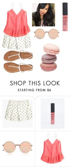 """Untitled #815"" by qveenkyndall16 ❤ liked on Polyvore featuring Madewell, Linda Farrow, J.Crew and Aéropostale"