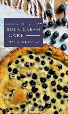 This easy, no special ingredient, THM S Blueberry Sour Cream Cake is sure to be a staple in your house! This easy, no special ingredient, THM S Blueberry Sour Cream Cake is sure to be a staple in your house! Keto Foods, Keto Snacks, Keto Recipes, Dessert Recipes, Cake Recipes, Paleo Food, Healthy Baking, Paleo Diet, Baking Recipes