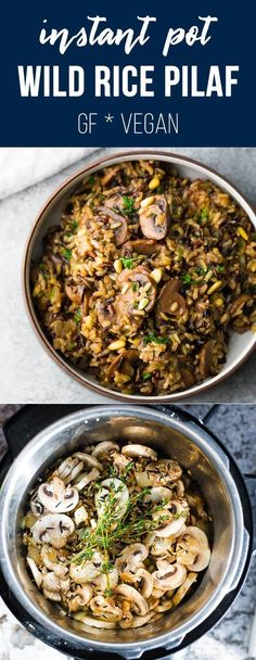 Rice Recipes Vegan, Wild Rice Recipes, Vegetarian Recipes, Healthy Recipes, Vegan Rice Pilaf Recipe, Healthy Food, Gluten Free Sides Dishes, Vegan Side Dishes, Side Dish Recipes