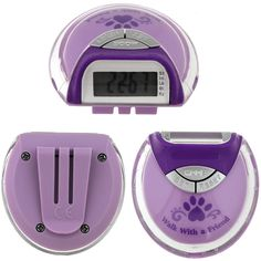 Walk With a Friend Purple Paw Pedometer from the Animal Rescue Site.