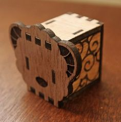 DIY Music Box, 敲敲木-動物音樂盒(羊)  KOKOMU Animal Music Box DIY - Sheep オルゴール - Laser cutting,