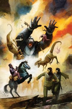 Kong on the Planet of the Apes (of - Comics by comiXology King Kong, Classic Sci Fi, Skull Island, Planet Of The Apes, Marvel Comic Books, Comic Book Covers, Godzilla, Horror Movies, Wonders Of The World