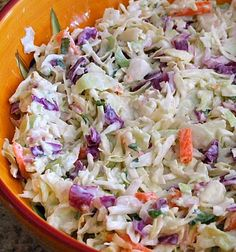 This recipe for creamy buttermilk coleslaw has a creamy buttermilk dressing. Cole Slaw is delicious served with pulled pork. Buttermilk Coleslaw Recipe, Coleslaw Recipes, Buttermilk Dressing, Recipe Girl, Recipe Box, Salad Dressing Recipes, Baked Beans, Soup And Salad, Cupcake Recipes