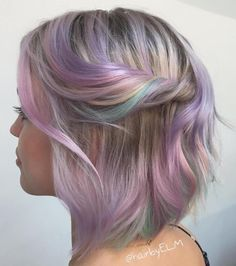 Hairstyles 2020 Trends Pastel Balayage Bob For Thin Hair.Hairstyles 2020 Trends Pastel Balayage Bob For Thin Hair Ombre Hair, Balayage Hair, Blonde Hair, Lilac Hair, Emo Hair, Ash Blonde, Green Hair, Cabello Opal, Pastel Rainbow Hair