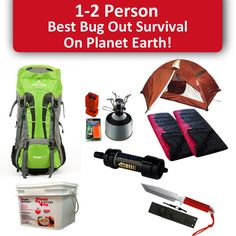 THE BEST 2 PERSON 96 HOUR BUG OUT BAG ON PLANET EARTH Amazing Backpack for Easy Carry Protection for 2 Adults From the Elements Fire Starter, Safe Drinking Wa