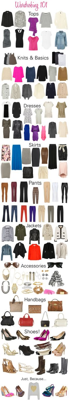 Wardrobing 101! How to Build a Functional Wardrobe via The Glow Collective.