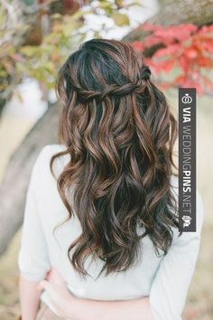 Wedding Guest Hair – Really wish my hair would do something like this…wish I had curly hair!!