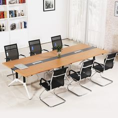 Factory direct sale modern conference room furniture melamine top office meeting table