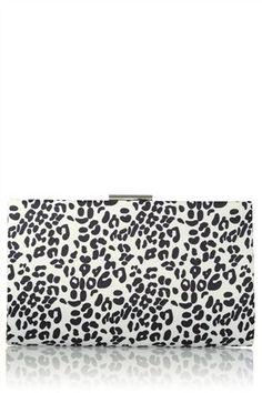 Mono Leopard Clutch Bag