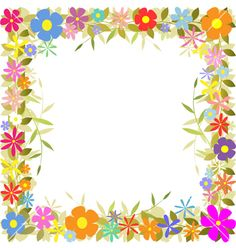 Floral border vector on VectorStock&reg