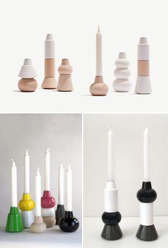 Not your grandma's candlesticks #decor #tabletop