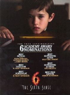 Watched this last night for the first time in a long time. It was like watching it for the first time all over again. All Movies, Great Movies, Horror Movies, The Sixth Sense Movie, Kathleen Kennedy, Best Screenplay, Information Poster, Original Movie Posters, Mystery Thriller